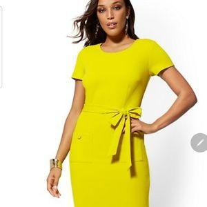 Belted Midi Sheath Dress